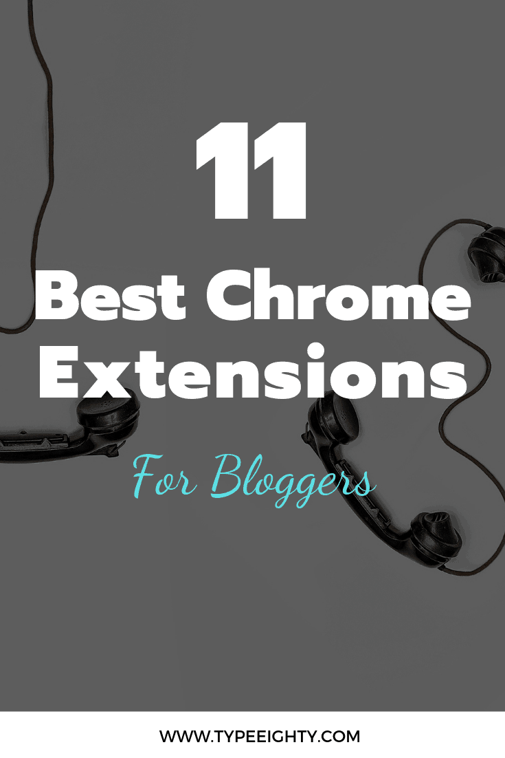 I put together the 11 best Chrome Extensions for Bloggers to share my favorite Chrome extensions for blogging. Save time, make money, and stay secure.