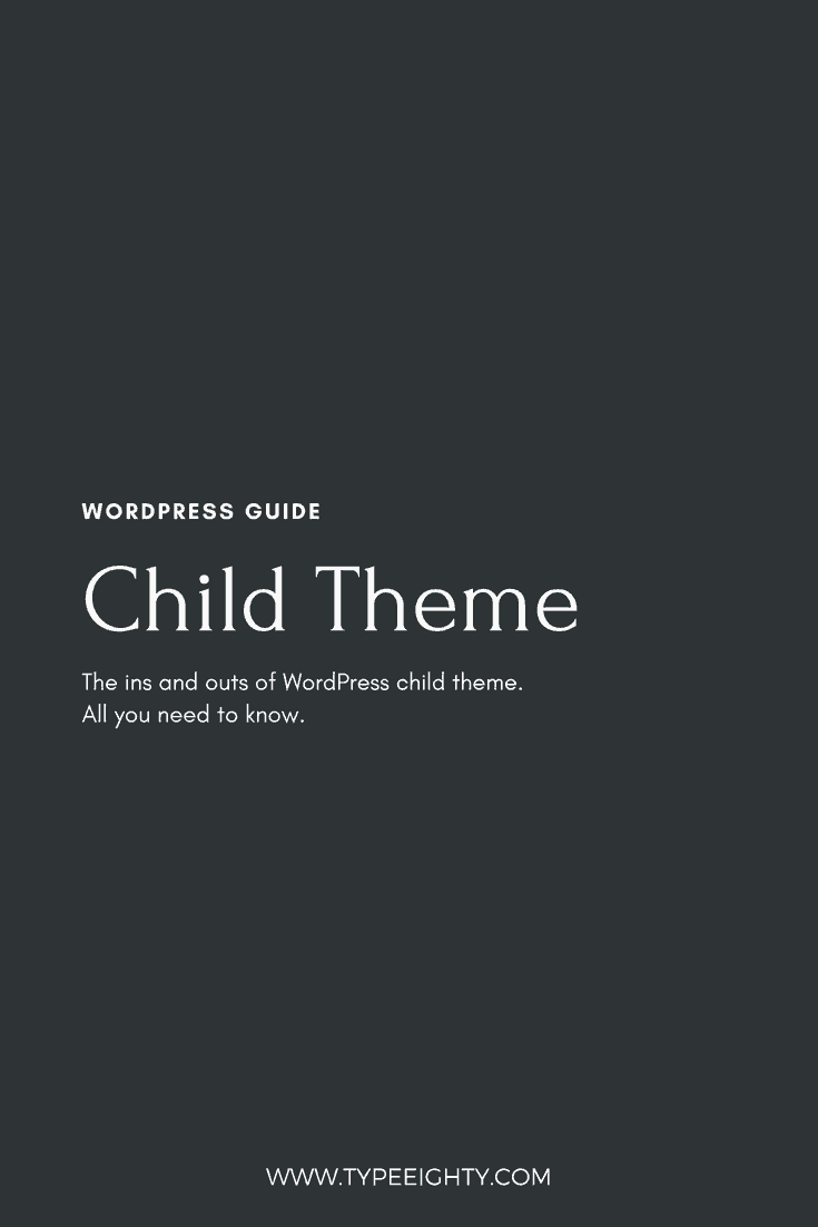 Creating a child theme is the best way to start customizing any WordPress themes. Stop making changes on your theme directly and risk of losing all your changes.
