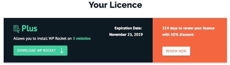 WP Rocket - License
