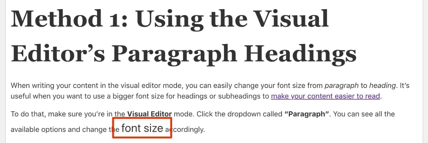Inline CSS Font Size