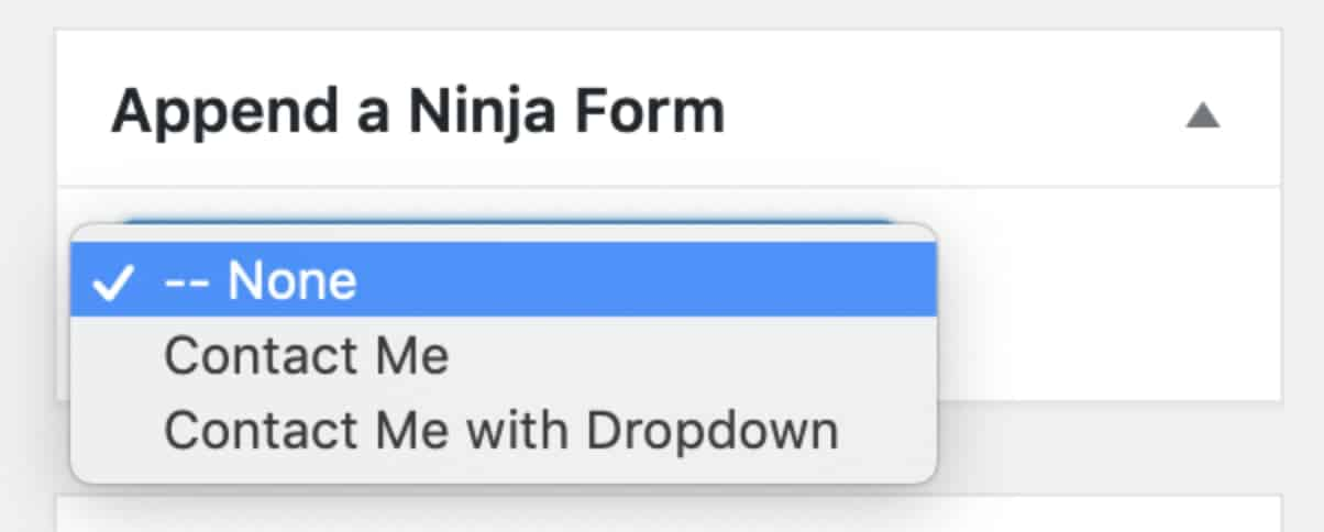 Ninja Forms Append Form