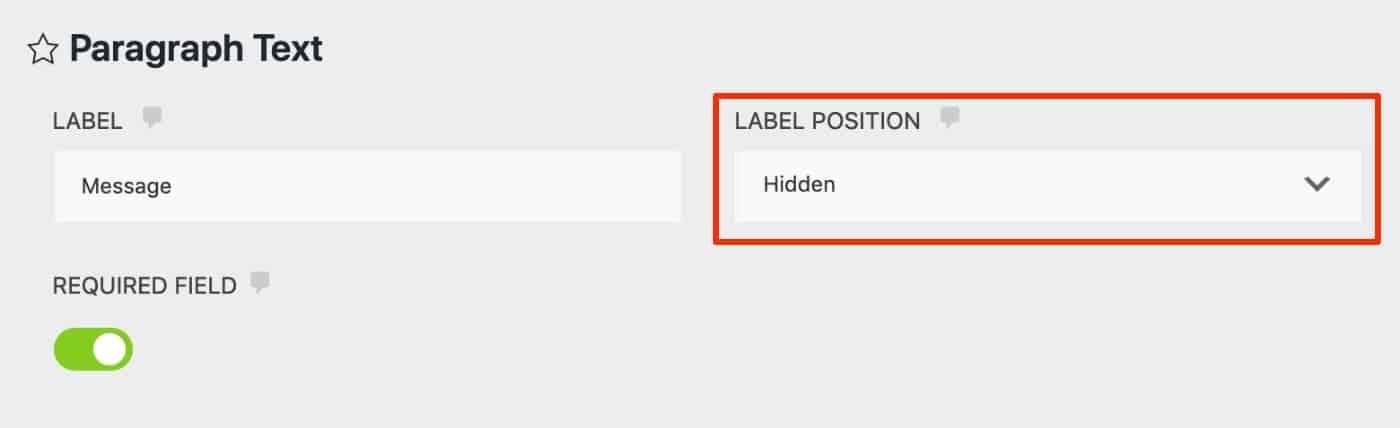 Ninja Forms Label Position