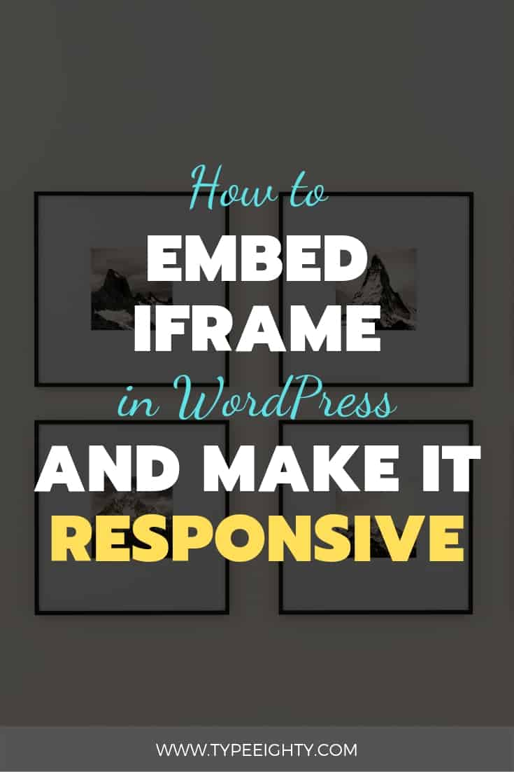How often do you embed iframe in your post?Embedding content from other websites makes a good addition to your content strategy - making your content more relevant and sharable.Find out how to embed a responsive iframe in WordPress!