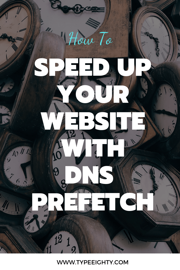 DNS resolution time will slow down your website. Resolving domain names in advance with DNS prefetch could improve your page speed.